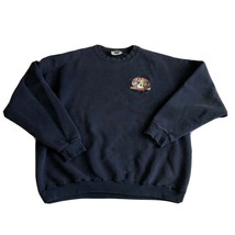 Sea Dog Brewing Co Navy Blue Embroidered Sweatshirt Lee Mens Size XL Mai... - $39.99