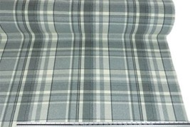 Tartan Check Wool Look and Feel Grey Cream Upholstery Fabric Material 3 ... - $4.31+