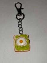 Avocado Toast Keychain Clay Breakfast Snack Clip On Accessory Women's - $7.50