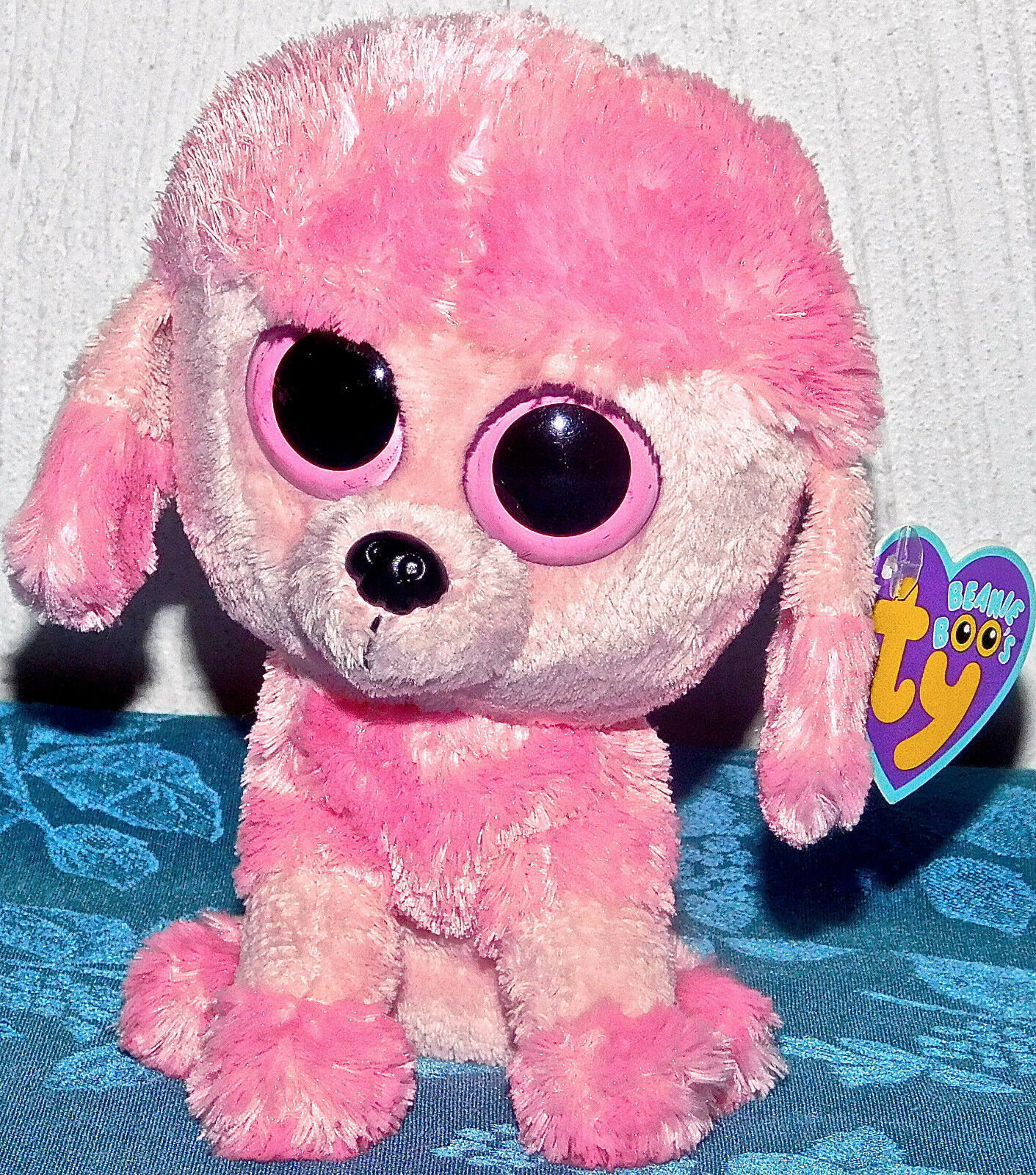 3dccca8cbc3 57. 57. Previous. New TY Beanie Boos PRINCESS PINK POODLE 6