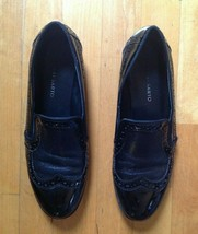 Franco Sarto Women's  Black Patent Leather  Wing Tip Loafers  Size 8M  - $21.77