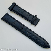 Leather Watchband Tissot PRS200 PRC200 T461 T067417A 19mm dark blue w/o ... - $34.65