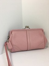Coach Soho Pink Leather Wristlet Evening Bag Pouch Clutch Purse  B16 - $67.72
