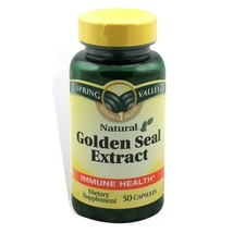 Spring Valley Goldenseal Extract, 100 milligram, 50 Capsules