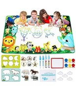 Large Water Drawing Mat for Kids Aqua Magic Water Doodle Drawing Mat Mes... - $37.14