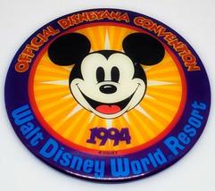 "1994 Walt Disney World Convention 5"" Collectible Pinback Button Rare - $6.75"