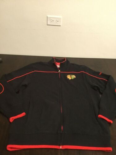Primary image for Chicago Blackhawks Reebok Full Zip Sweatshirt Small Excellent Condition