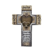 Abbey Gift Faith Hope Love Marriage Cross - $31.61
