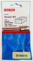 "Bosch 85159 1/2"" Hinge Mortising Router Bit 2 Flute HSS USA - $3.96"
