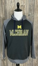 Pro Edge University Of Michigan Hoodie Sweatshirt Men's Large Grey Polye... - $21.78