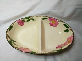 Vintage Franciscan China Large divided serving bowl  Desert Rose - $17.33