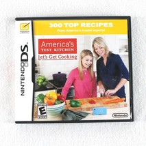 America's Test Kitchen Let's Get Cooking Nintendo DS 2010 Game Case Inst... - $6.99