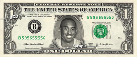 KOBE BRYANT on a REAL Dollar Bill Lakers Cash Money Collectible Memorabi... - $8.88