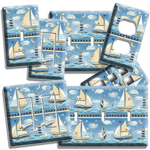 NAUTICAL BABY NURSERY SAILBOATS LIGHT SWITCH OUTLET WALL PLATES ROOM HOU... - $8.99+