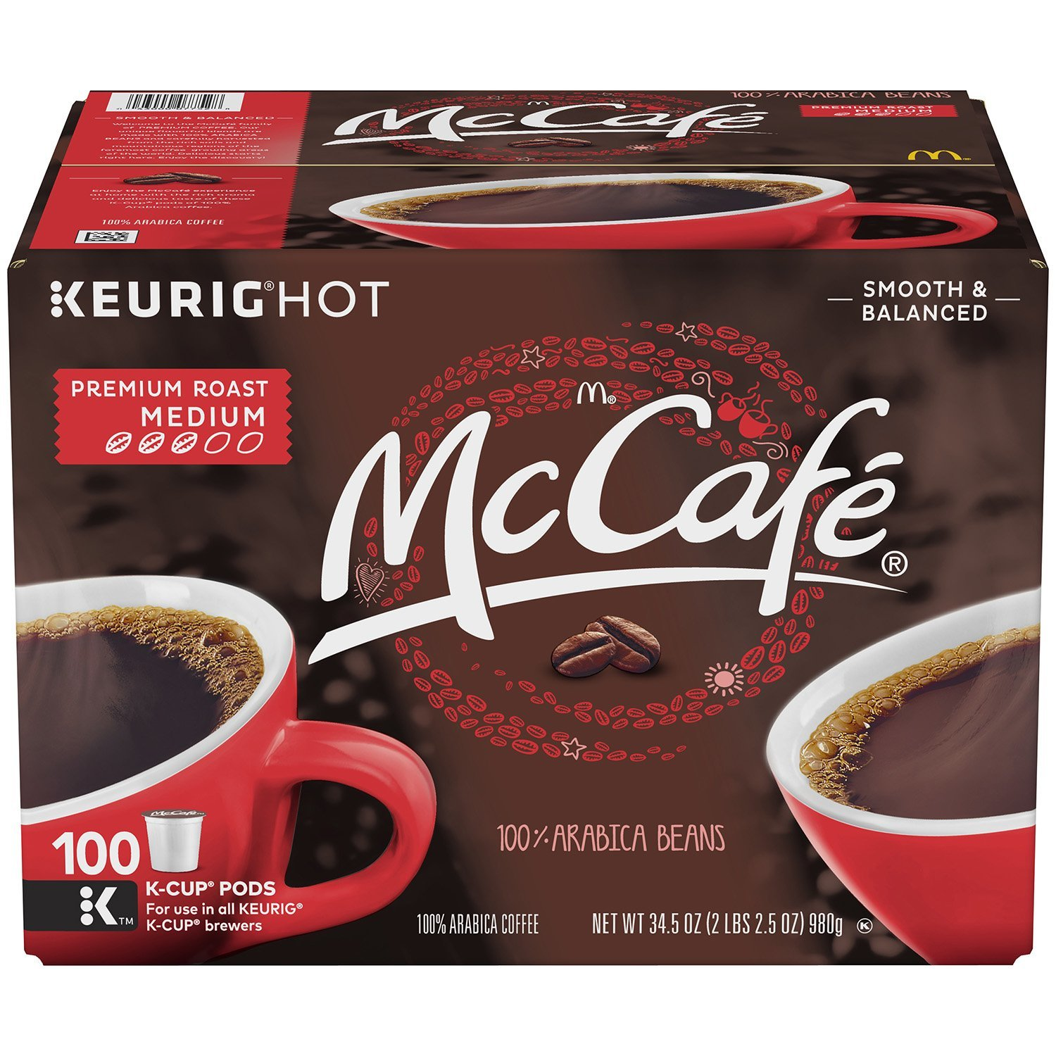 Primary image for McCafe Premium Roast K-Cup Coffee Pods (100 ct.)