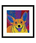 'Joyful Corgi' By Angela Bond Framed Wall Art - $137.99