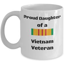 Proud daughter of a Vietnam veteran coffee mug - Army agent orange family gift - $20.90