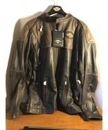 Men's Harley Davidson Triple Vent System Trostel Leather Jacket 2XL Tall # 98053 - $426.55