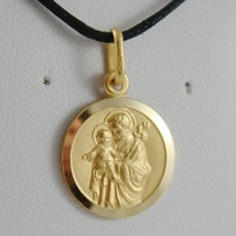 SOLID 18K YELLOW GOLD ST SAINT SAN GIUSEPPE JOSEPH JESUS MEDAL MADE IN I... - $267.00+