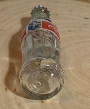 Thailand Coke Coca-Cola Mini Miniature dried Blue Flowers crystal glass bottle image 7