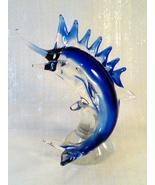 Fifth Avenue Crystal Hand Blown Glass - BLUE MARLIN SWORDFISH Figurine - $60.00
