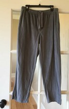 Izod Pajama Pants Mens L Gray Fleece - $12.99