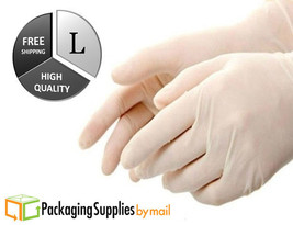 6000 Latex Disposable Gloves Powder Free 4 Mil Thick N-Vinyl Size: Large - $277.05