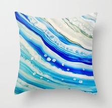 Throw Pillow Case Cushion Cover Made USA Abstract 24 blue art L.Dumas - $29.99+
