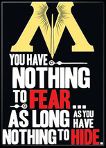 Harry Potter Minster of Magic Saying Nothing to Fear Refrigerator Magnet, NEW - $3.99