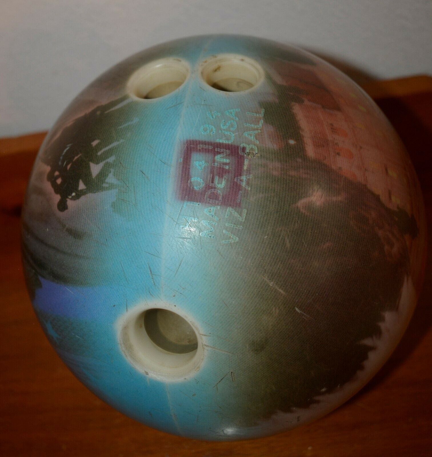 Primary image for HT04194 Made In The USA Viz-A-Ball Bowling Ball 15 lbs 11 oz used