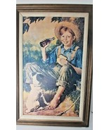 Coca Cola Barefoot Boy large Norman Rockwell cola limited edition 122 of... - $197.01