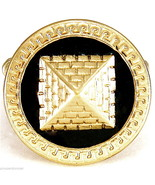 Pyramid Ring New Iced Out Stretch Band King Tut Ancient Egyptian Medusa ... - $13.18