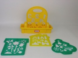 Little Tikes Stencil Set Carrying Case 4pc Vintage Homes Holiday Flowers... - $20.44