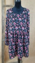 Forever 21 women small peasant long sleeve high waist dress floral lined - $9.93