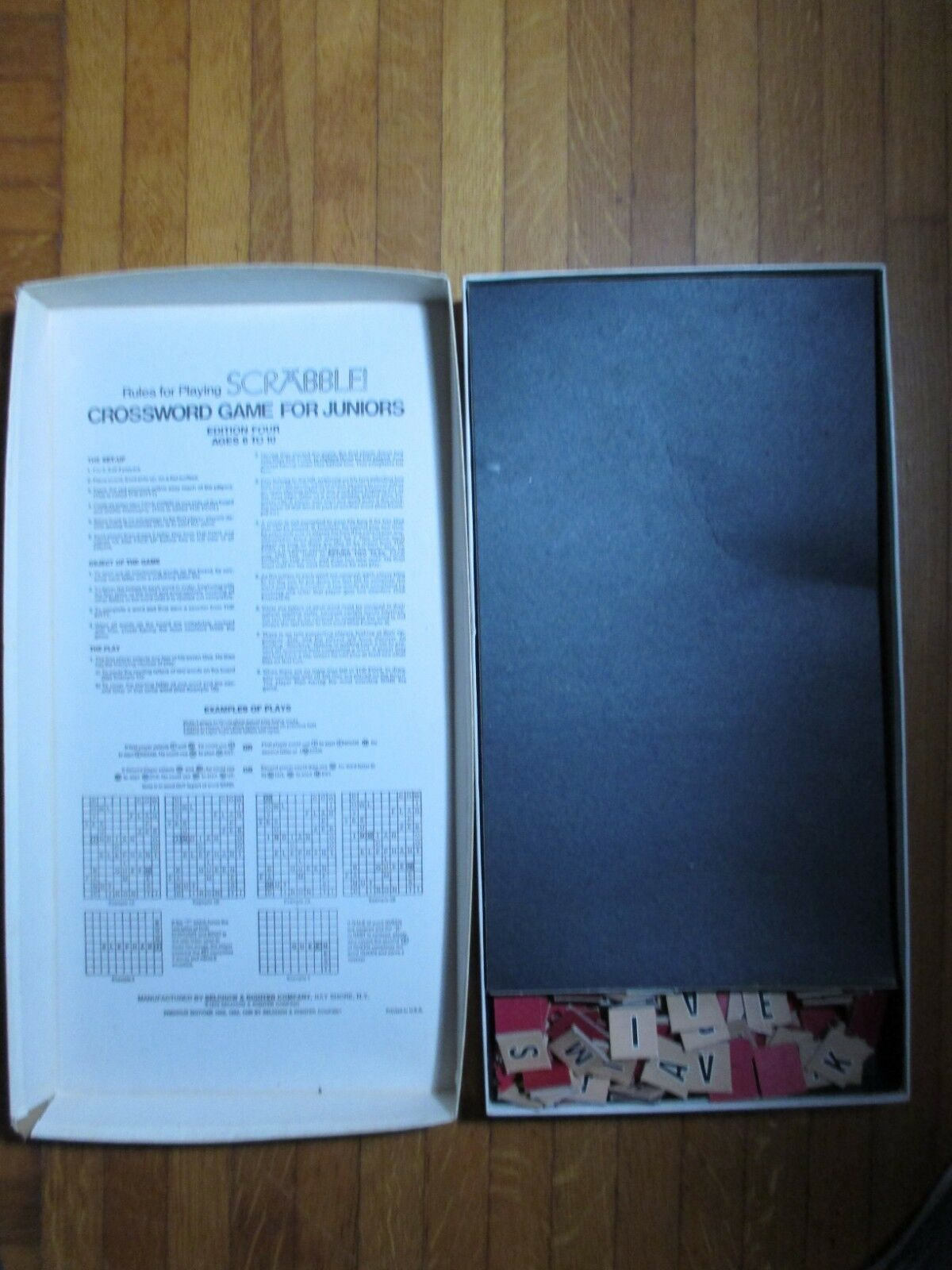 Scrabble For Juniors 4th Edition 1975 S&R Vintage Game image 2