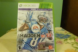Madden NFL 13 (Microsoft Xbox 360, 2012) VG Condition - $7.91