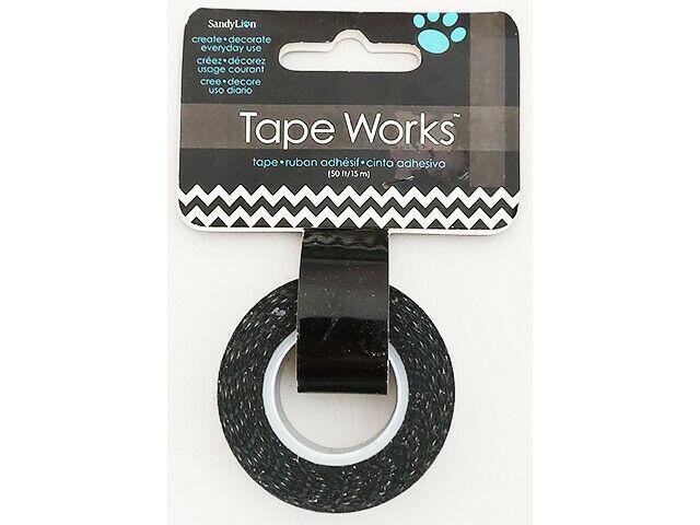 SandyLion Tape Works Black and White Chevron Washi Tape #SC9609