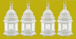 "White Wedding Candle Lanterns 12"" tall (Set of Four) Party Event Supplie... - $47.50"