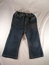 Girls Cherokee Dark Blue Wash Denim Boot Cut JeansToddler Size 24 M  - £5.42 GBP