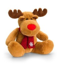 Keel Toys Deluxe 25cm Reindeer with Red Scarf ... - $12.99