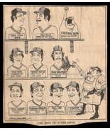 Red Sox Star Players Year Best Sports Cartoon Newspaper Clip Baseball Sk... - $12.99