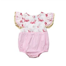 2019 Cute Toddler Baby Girl Easter Clothes Bodysuit Ruffle Fly Sleeve Ra... - $9.25+