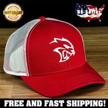 SRT HellCat Logo Custom Snapback Hat New-Red w// Black