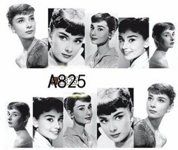 Water Transfer Watermark Art Nails Decal Sticker Audrey Hepburn A825 - $1.70