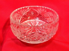"Vintage Clear Lead Crystal Bowl ~8""widest - $17.95"