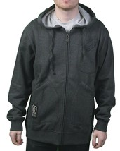 LRG Mens Clean Black Heather The Target Interval Zip Up Hoody Sweatshirts XL NWT