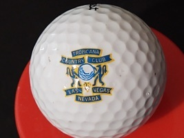 Vintage Advertising Collectible Golf Ball Las Vegas Tropicana Country Club - £15.69 GBP