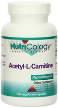 Nutricology Acetyl L-carnitine, 1000 Mg, Vegicaps, 100-Count - $74.51