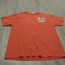Mens Majestic Washington Nationals Bryce Harper #34 MLB Red Tee T-Shirt xl - $27.12