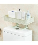 Wall Mounted Plastic Storage Rack Suction Bathroom Kitchen Shelf Basket ... - $24.28